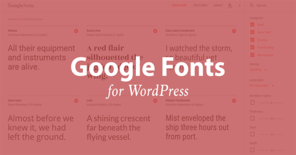 Google Fonts Featured Image